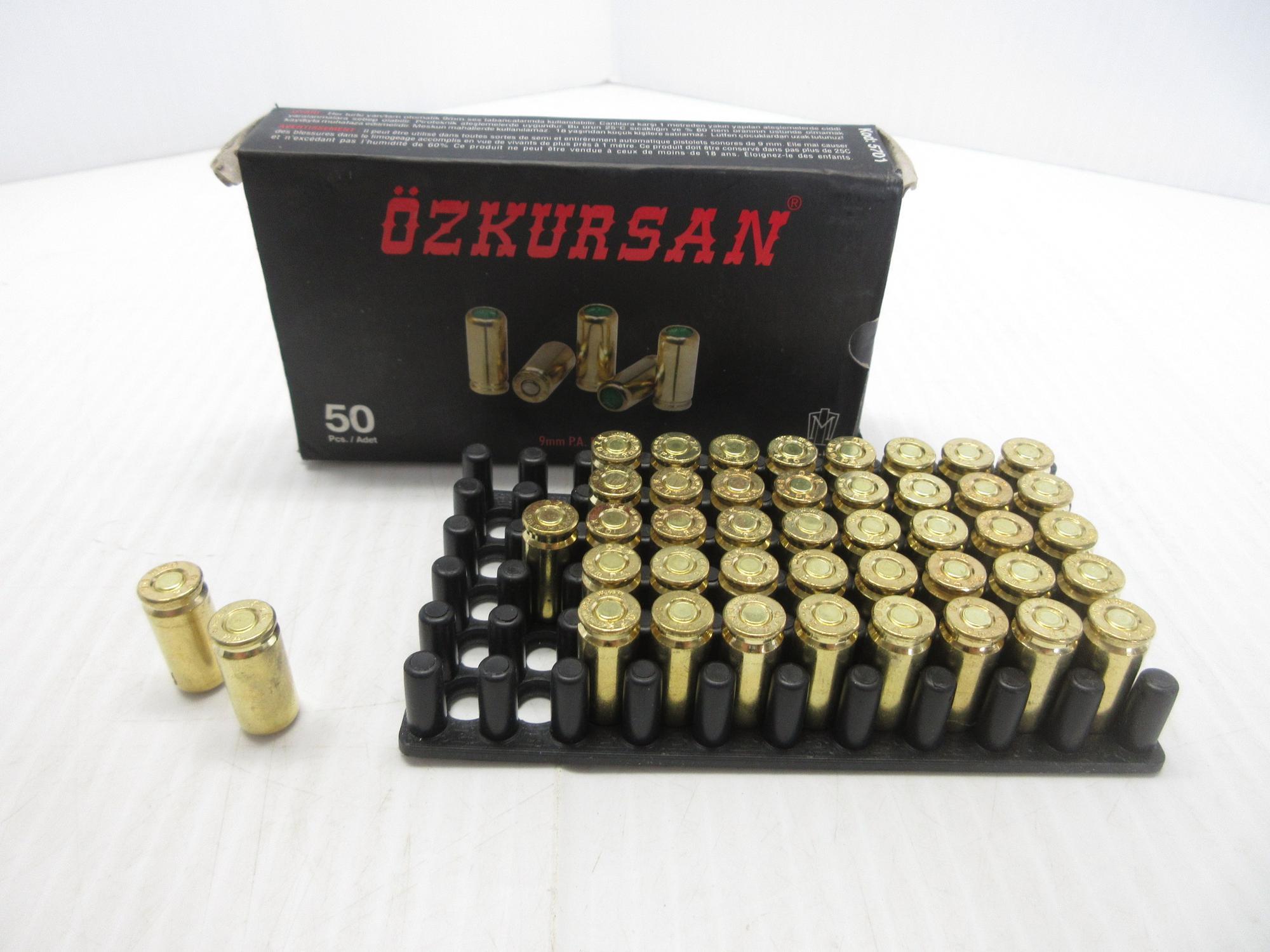 Albrecht Auctions   (42) Rounds of Ozkursan 9mm Blank Rounds