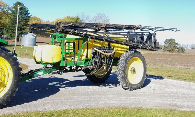 "Schaben 8500 1250-Gallon Sprayer, Serial No. 100512, 90' Boom with 20"" Centers, Norac Boom Height Control, 9-Section Auto Shut-Offs with Trimble EZ Boom, 380/90R46 Tires, Welding Repairs on Boom Tips, Inductor Available but NOT on Sprayer, 100-Gallon Rinse Tank, One Owner"