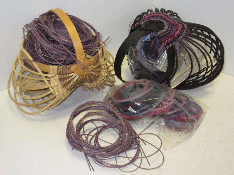 "(2) Basket Kits by Judy K. Wilson; (2) Started Baskets with Supplies and Instructions, 12"" x 12"""