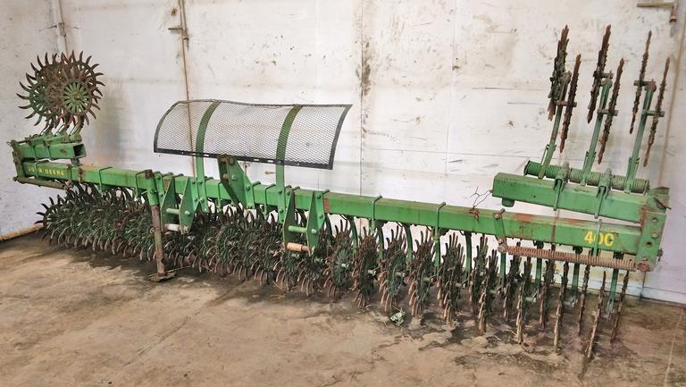 "John Deere Rotary Hoe, 18' 6"" Wide, Manual Fold Wings with Spring Assist, Good Condition"