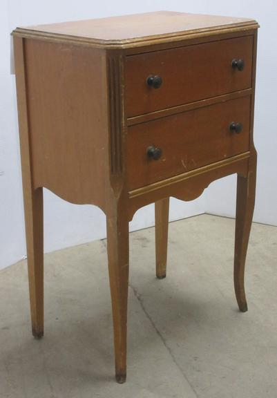 Small Solid Wood Sewing Cabinet
