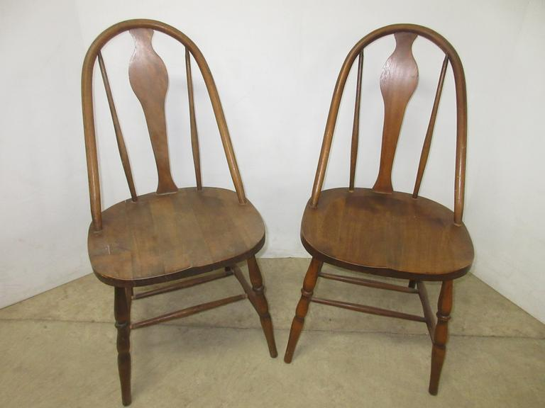 (2) Wood Dining Chairs with Harp Backs