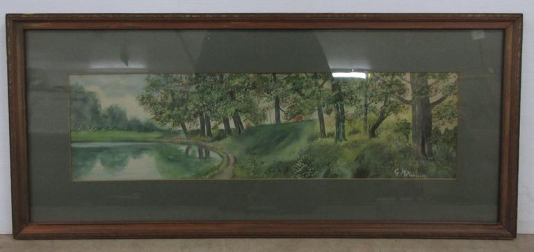 Framed Watercolor, Signed GM Murchison