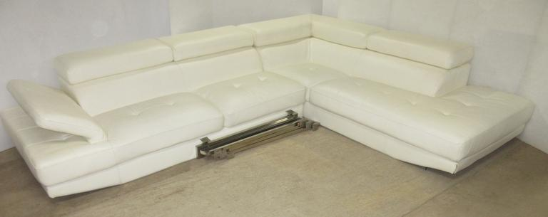 Pellissima Brand Modern Two-Piece Sectional Couch Set, White in Color