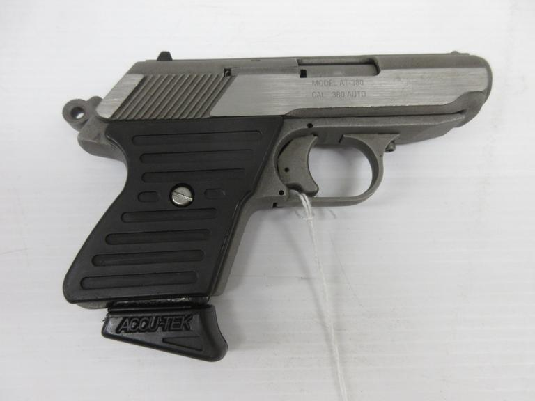 Accutek AT380 .380 Auto, American Made, All Stainless Steel, Semi-Auto, Single Action, Small, Sturdy, Well Made