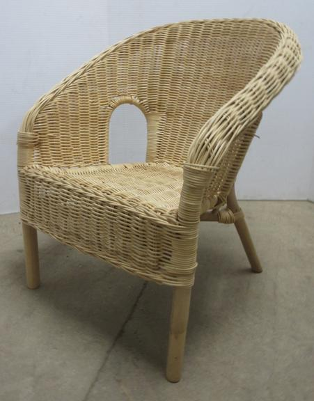 Childs Rattan Lounge Chair, Well Made