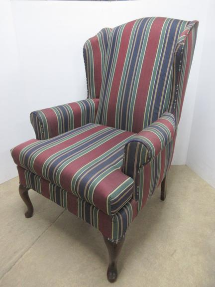Bassett Wingback Chair with Solid Wood Legs