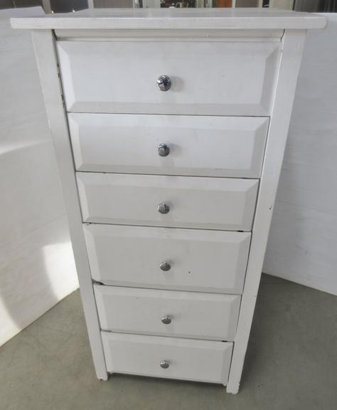 Older Shabby Chic Six-Drawer Cabinet, Heavy Duty Made Half in Pine