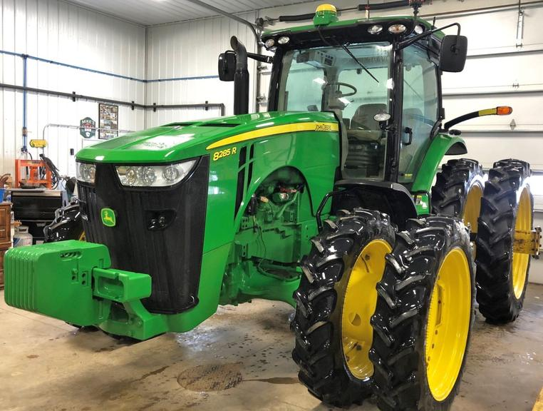 2012 John Deere 8285R Tractor, (1729.4 Hours), Front Duals 320/85R38, Rear Duals 380/90R50, Tipples for Rear 18.4R46, Goodyear's Not on Tractor Currently but Included, Starfire 3000 John Deere Guidance System, Quick Hitch, 4-Remotes, Differential Lock, Front Wheel Assist, Excellent Condition