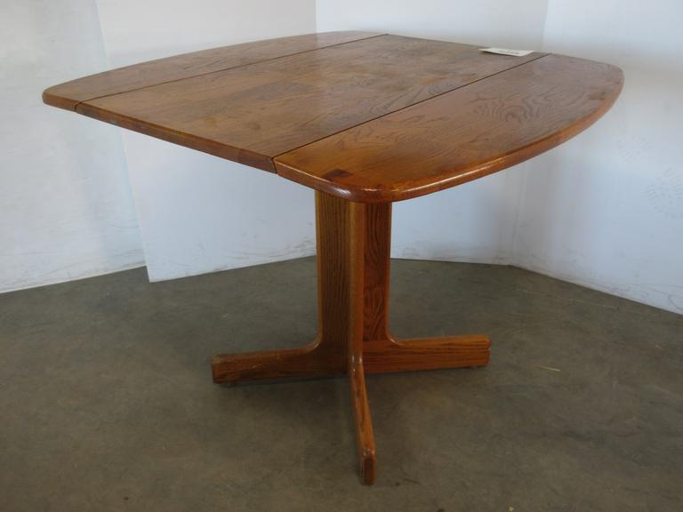 Solid Oak Drop Leaf Table