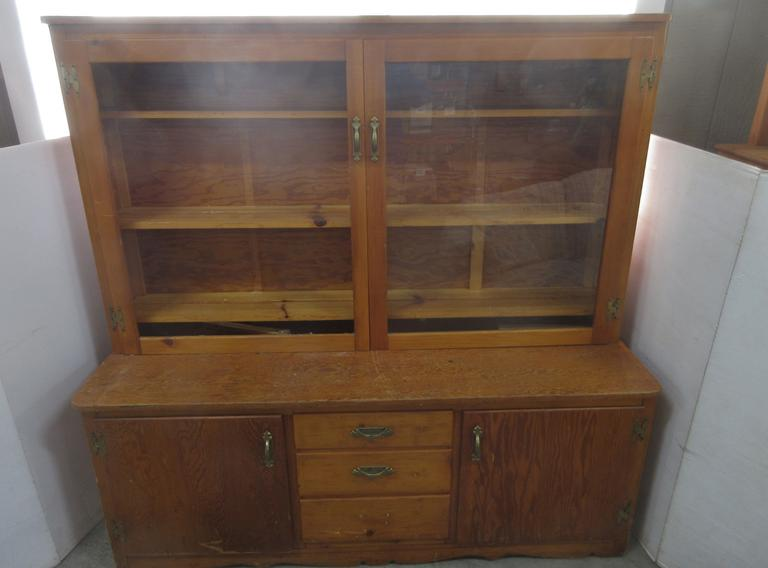 Older Built-In Cedar Glass Display