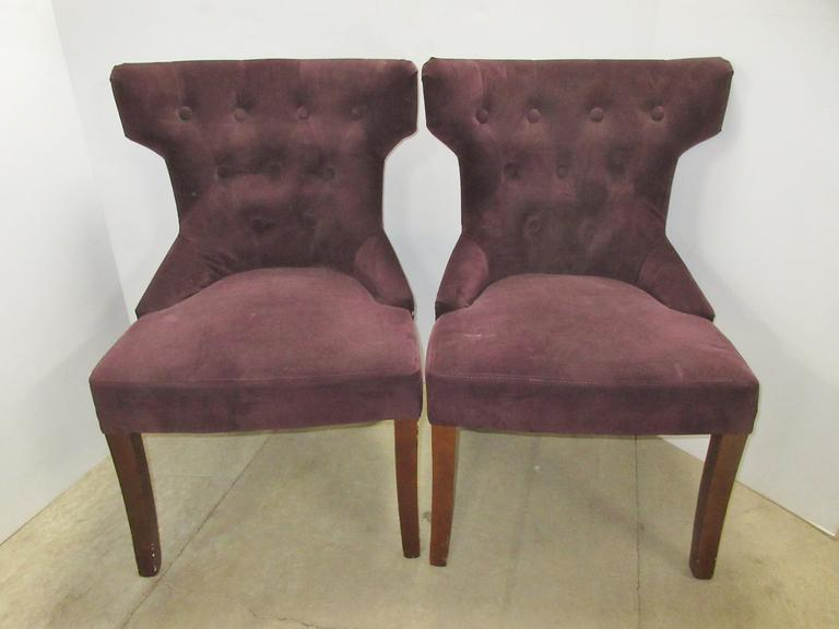 (2) Paisley Accent Chairs