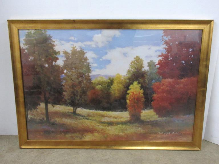Large Picture Depicting Colored Trees by Kamyo Ede, Attractive Scene