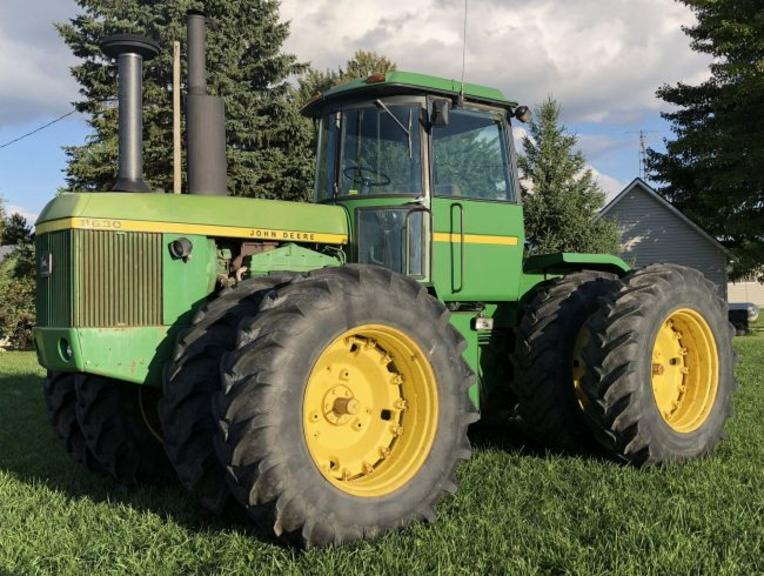 1974 John Deere 8630 4WD Tractor, (7916 Original Hours), (598 Hours on Complete Engine Rebuild), 3-Hydraulic Outlets, 3-Point Hitch, PTO, Tires are at 50%, Tractor has A/C, Heat, Radio, Good Running Tractor, Ready for Work
