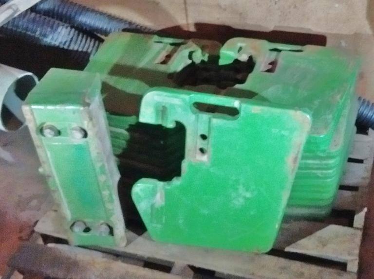 (20) John Deere Weights with Front Bracket, Serial No. R58823, 100 lbs. Each