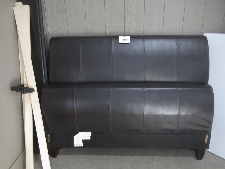 Queen Size Bed Frame, Faux Leather