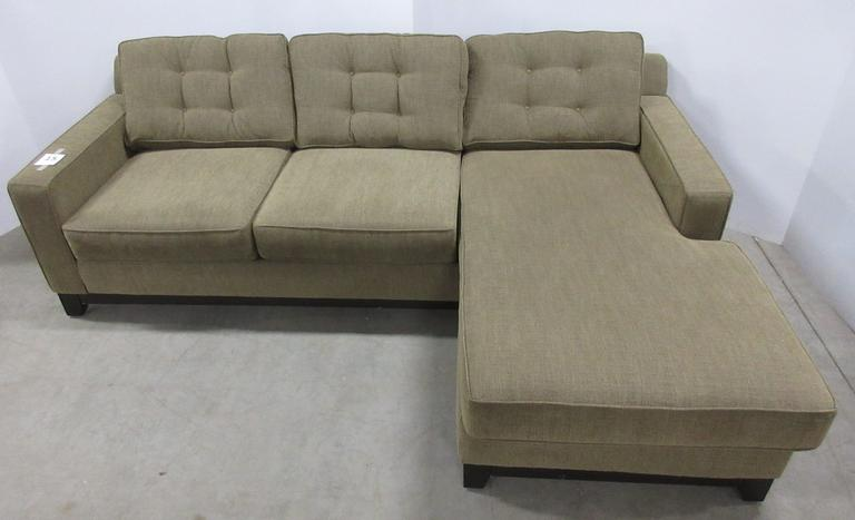"Convertible ""L"" Shaped Sectional Sofa, Tweed Fabric/Cloth"