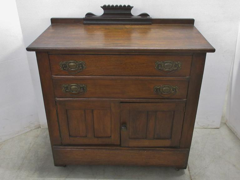 Two-Door Commode with Two Dovetail Drawers and Original Hardware