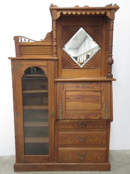 albrecht auctions antique drop front secretary bookcase 13043 | 69961f6bde5745f075ee47e1be4ff2d0