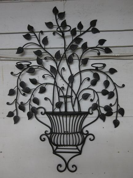Large Wrought Iron Wall Accent