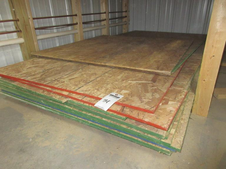 "Misc. Sheets of 1/2"", 7/17"" and 3/4"" OSB"
