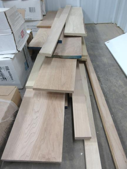 Misc. Hardwood Boards, Include: Cherry, Oak, Hickory, Maple, and Poplar