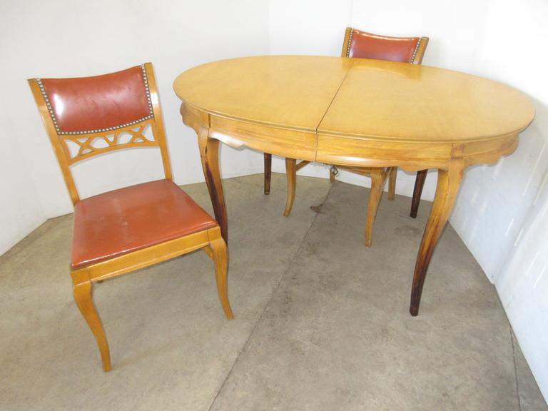 Mid-Century Oval Table with (2) Chairs
