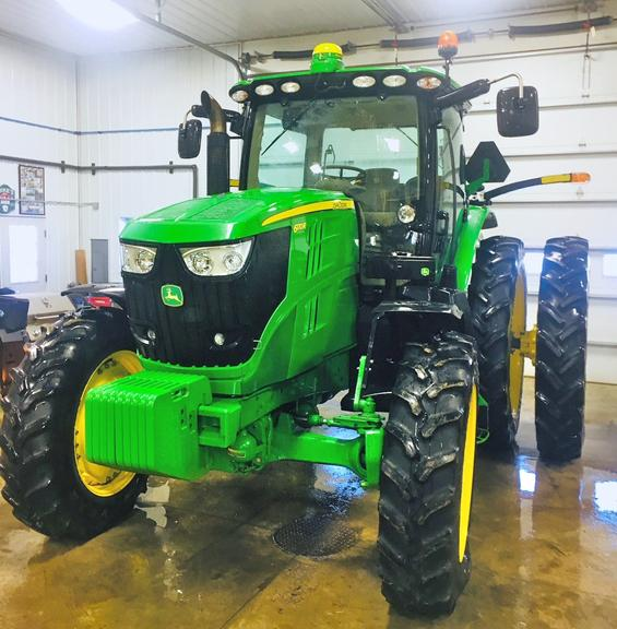 2012 John Deere 6170R Tractor, (2008.6 Hours), Quick Hitch Third Link Being Hydraulic, Front Fenders, Duals, Starfire 3000 John Deere Guidance System, 4-Remotes, Front Tires 380/85R34, Rear Tires 380/90R50, FWA, Excellent Condition
