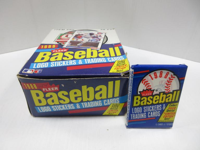 Albrecht Auctions 36 Packages Of 1988 Fleer Baseball Cards
