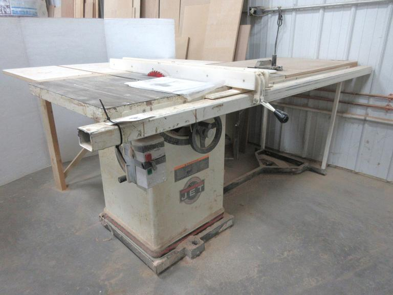 "JET 10' 40th Anniversary Cabinet Saw with 52"" Xacta Fence System, 3 HP"
