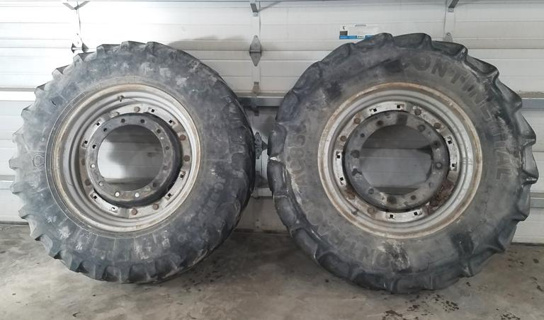 (2) 380/85R30 (14.9x30) Tires:  One-Firestone, One-Continental with Adjustable Rim Centers