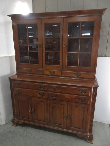 Willett Two-Piece Wood Hutch, Matches Lot No. 14