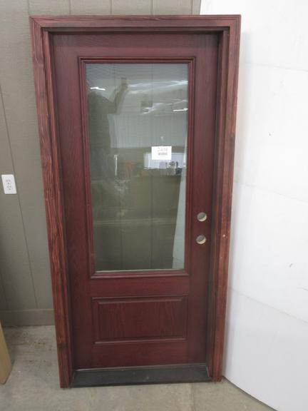 Albrecht Auctions | Fiberglass Therma Tru Prehung Entry Door, 3/4