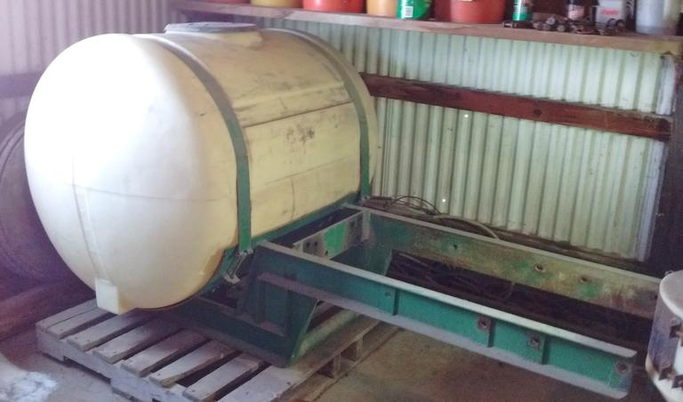 Shop Built 200-Gallon Poly Tank with Front Mount, Fits Any John Deere 3020 - 4455 Model Tractor, Excellent Condition
