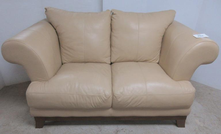 Leather Love Seat, Matches Lot No. 29
