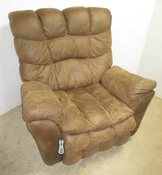 Brown Rocker/Recliner with Massage and Heat