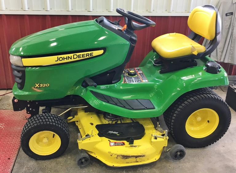 "John Deere X320 Lawnmower with 350 Hours, 48"" Deck, New Blades, Good Condition, One Owner, Serviced"