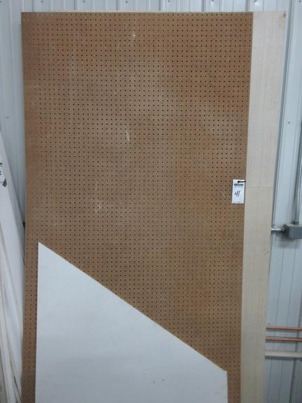 Sheet of MDF Pegboard, and Assorted Sheets of Paneling
