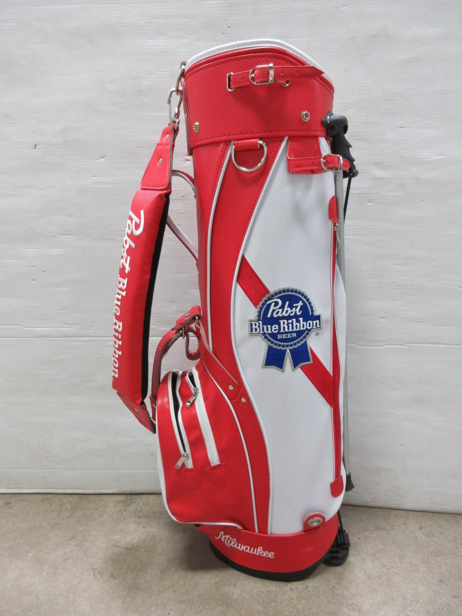 Albrecht Auctions Pabst Blue Ribbon Golf Bag