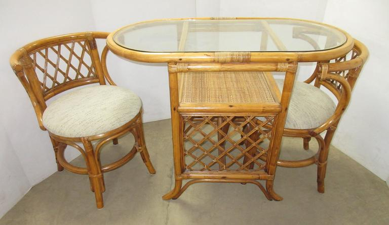 Three-Piece Glass Top Dining Set
