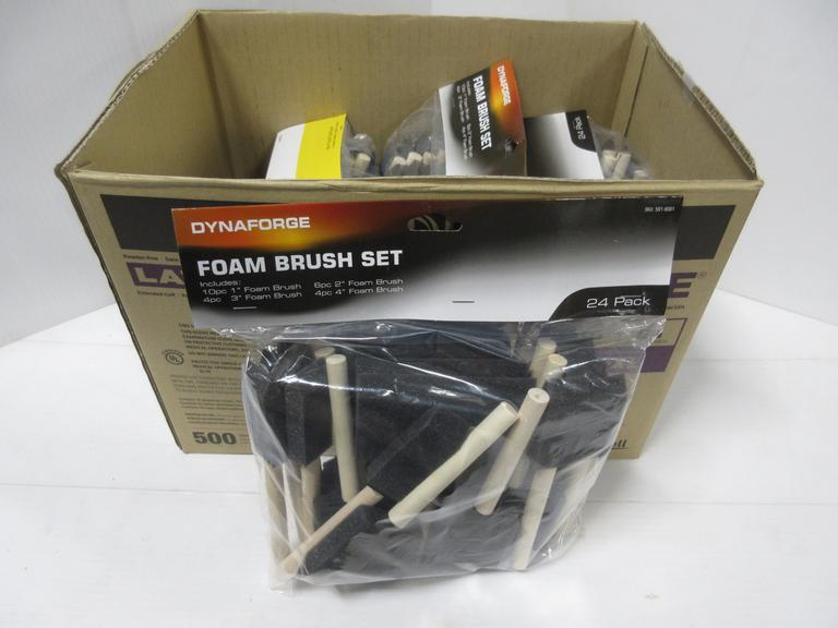 Albrecht Auctions 5 24 Packs Of Foam Brushes For Use With All