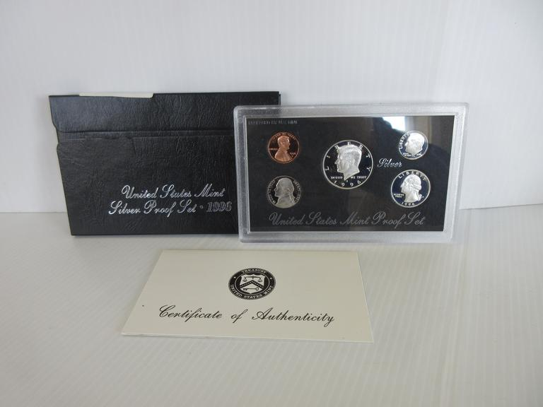 1996-S Five-Coin Silver Proof Set