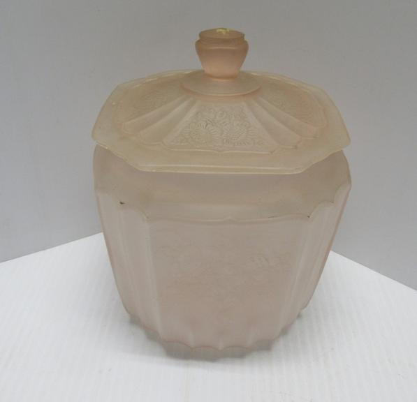 Pink Glass Jar with Lid