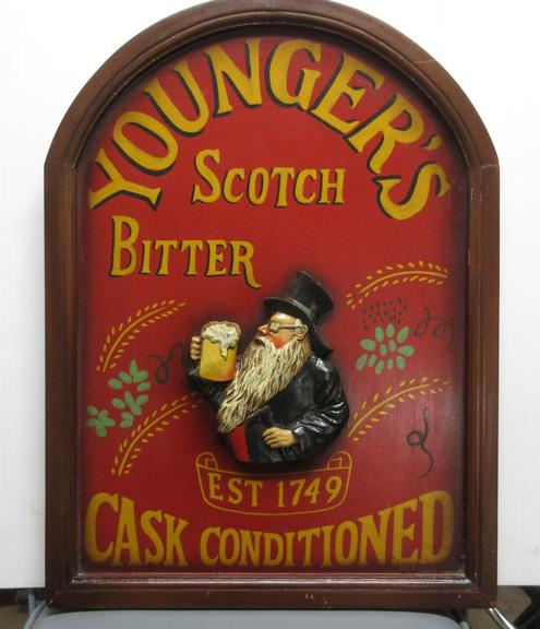 Rustic Youngers Scotch Bitter Est. 1749 Cask Conditioned 3D Wood Pub/Bar Sign