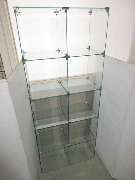 Ten-Hole Modular Glass Cubby, Green Glass