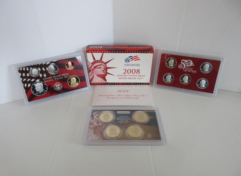 2008-S 14-Coin Silver Proof Set with COA