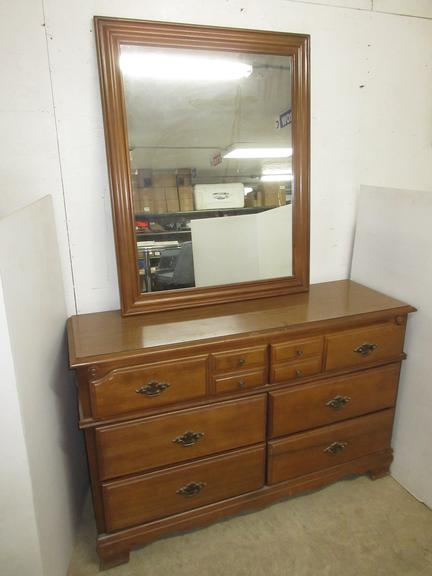 Dresser with Mirror, Matches Lot No. 42