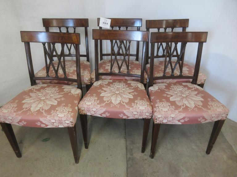 (6) Duncan Phyfe Chairs, Matches Lot No. 22