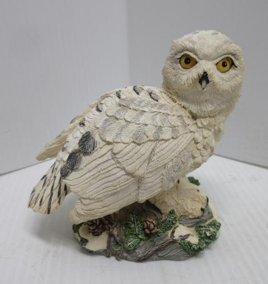 """Great Snowy Owl"" Hamilton ""Masters of the Evening Wilderness"" Sculpture"