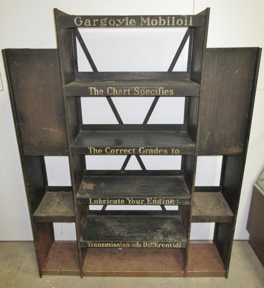 Mobil Gargoyle Store Display Rack, Used in the 1920s